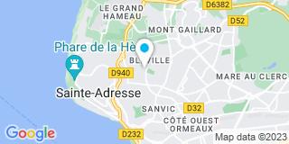 Plan Carte AB Fermetures (Assistance Bâtiment et Fermetures) à Le Havre