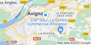 Plan Carte Gautier Christophe à Avignon
