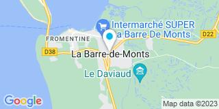 Plan Carte Bernard D - Milcent à La Barre-de-Monts