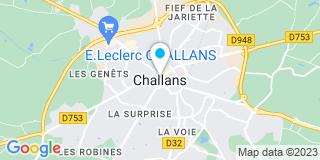 Plan Carte AISB (Guillot Menuiserie) à Challans