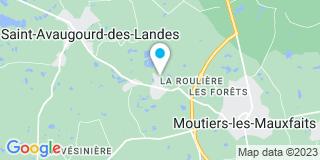 Plan Carte Traineau Bernard à Saint-Avaugourd-des-Landes