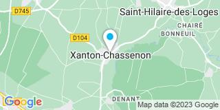 Plan Carte Pouponnot JP à Xanton-Chassenon