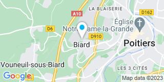 Plan Carte Durand Menuiserie à Biard