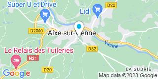Plan Carte Guillaumie à Aixe-sur-Vienne