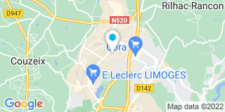 Plan Carte Benet à Limoges