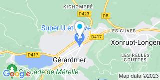 Plan Carte Cuny Constructions à Gérardmer