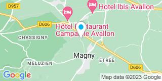 Plan Carte Les Charpentiers du Morvan à Magny