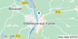 Plan Carte Les Ateliers Giffard à Villeneuve-sur-Yonne