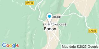 Plan Carte Notaire Derien Magali à Banon