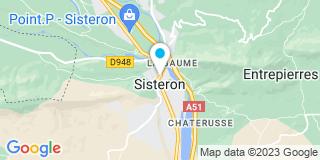 Plan Carte Les notaires Valérie Vacher et Magali Martelli à Sisteron