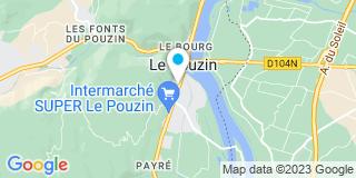 Plan Carte Le notaire Benoit Hugues à Le Pouzin