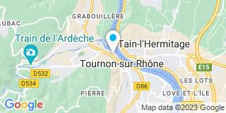 Plan Carte Brigitte Cheval-Gaillard à Tournon sur Rhone