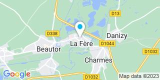 Plan Carte Arnaud Gaillot à La Fère