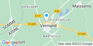 Plan Carte Jacques Lemoine à Vermand