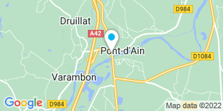 Plan Carte Christine Bourgean-Bouchet  à Pont-d'Ain