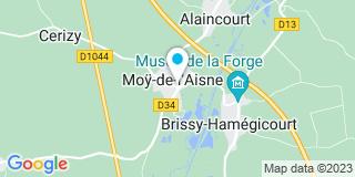 Plan Carte Christian Pauchet à Moy-de-l'Aisne