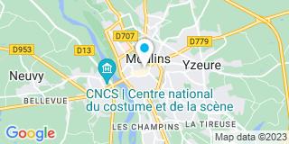 Plan Carte François Perrot et Magali Thuart à Moulins Cedex