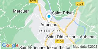 Plan Carte Le notaire Pierre Didier à Aubenas
