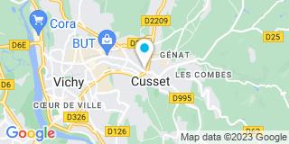 Plan Carte Jeanne-Marie Carrier de Boissy, Bertrand Labbé de Montais et Frédéric Rouvet à Cusset Cedex