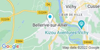 Plan Carte Anne Picard et Bertrand Goumy à Bellerive-sur-Allier