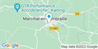 Plan Carte Jean Serre à Marcillat-en-Combraille