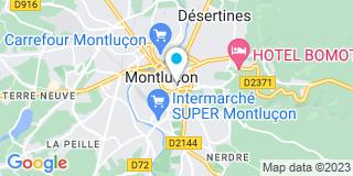 Plan Carte Sourdille-Renaud Christine à Montluçon Cedex