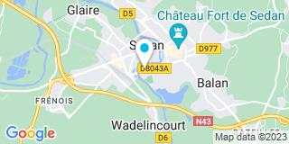 Plan Carte Le notaire Maud Zebert-Landrin à Sédan