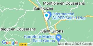 Plan Carte Notaire Jean-Louis Villanou à Saint Girons