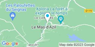 Plan Carte Le notaire Stéphane Lopez à Le Mas D'Azil