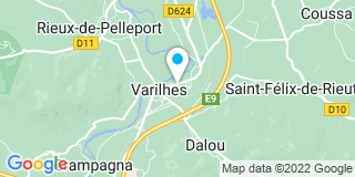 Plan Carte Notaire Yann Fieuzet à Varilhes