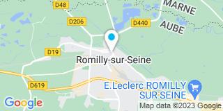 Plan Carte Notaire Jacky Jestin à Romilly sur Seine