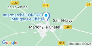 Plan Carte Le notaire Patrick Rozoy à Marigny le Chatel