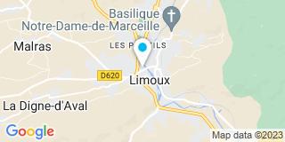 Plan Carte Le notaire Michel Isard à Limooux