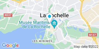 Plan Carte Desfossés-Moreau Dorothée à La Rochelle Cedex