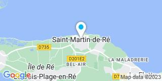 Plan Carte Anne Costenoble, Fabrice Perreau-Billard et Xavier Guibe à Saint-Martin-de-Ré