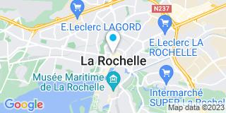Plan Carte Jean-François Herbert et Christine Brunet Pauly-Caillot à La Rochelle Cedex2