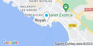 Plan Carte Stéphanie Lapègue et François-Xavier Vicq à Royan