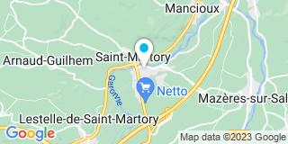 Plan Carte Franc-Souleres Martine à Saint-Martory