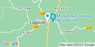 Plan Carte Notaire Jeanne Chauffour à Laguiole