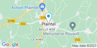 Plan Carte Eric Boissierre et Anne-Marie Bon à Plaintel