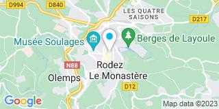 Plan Carte Notaire Jean-Marc Taussat à Rodez