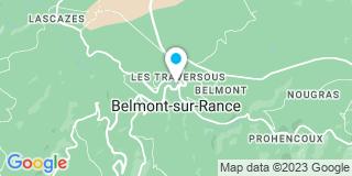 Plan Carte Les notaires Guillaume Gauci et Estelle Imbert-Gauci à Belmont sur Rance