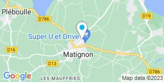Plan Carte Jean Lusteau, Anne-Marie Lusteau -Sanson et Jérôme Texier à Matignon