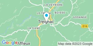 Plan Carte Cessac-Meyrignac Pascale à Treignac