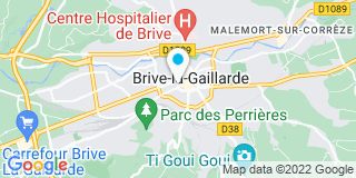 Plan Carte Arnaud et Nicolas Peyronnie à Brive-la-Gaillarde