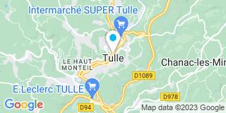 Plan Carte Catherine Dubois-Sallon, Emanuelle Marliac et Jean-Loup Sallon à Tulle