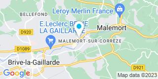 Plan Carte Marie-Pierre Manières-Mezon et Olivier Gazeau à Malemort-sur-Corrèze