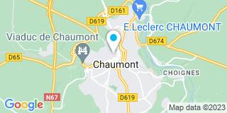 Plan Carte Notaire Franck Hoffmann à Chaumont