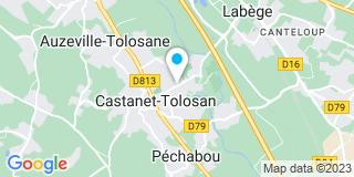 Plan Carte SCP Nathalie Bayle, Benoit Sales et Bertrand Sales à Castanet Tolosan