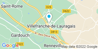Plan Carte SCP Pascale Vigneau-Demars, Myriam Barthes Attard et Jean-François Vigneau à Villefranche-de-Laugarais